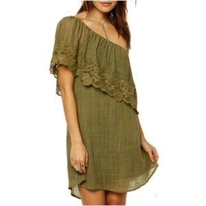O'Neill Eryn One Shoulder dress Moss